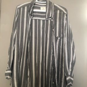 AE oversized button up